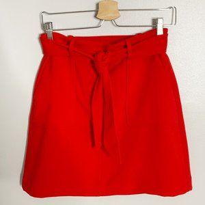 Loft Red Large Pockets A-Line Skirt